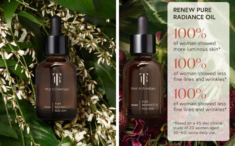 True Botanicals radiance oil